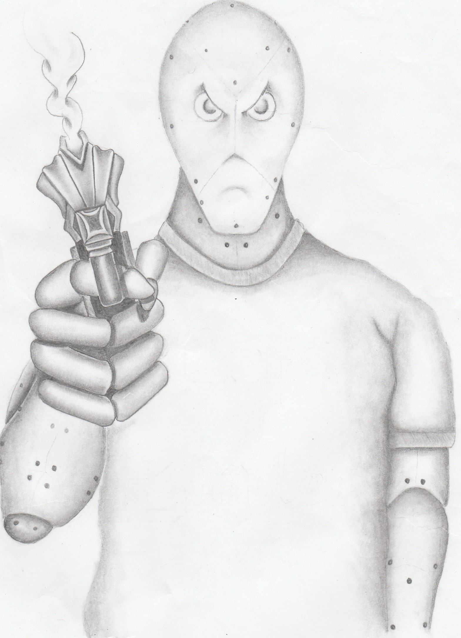 CopBlasterTron Mascot Sketch