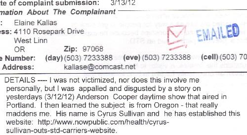 Elaine Kallas's Complaint