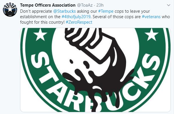 Tempe Officers Association Cyberbullying Starbucks