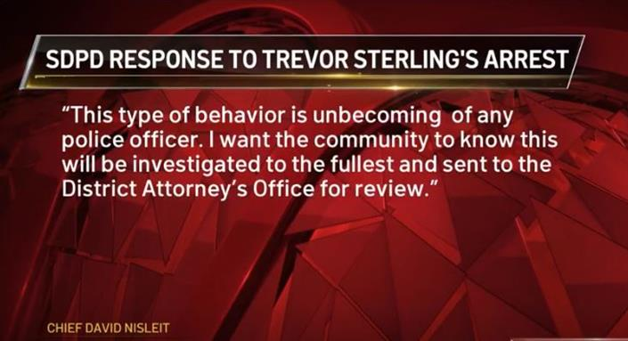 San Diego Officer Trevor Sterling Arrested for Bar Gun Brandishing